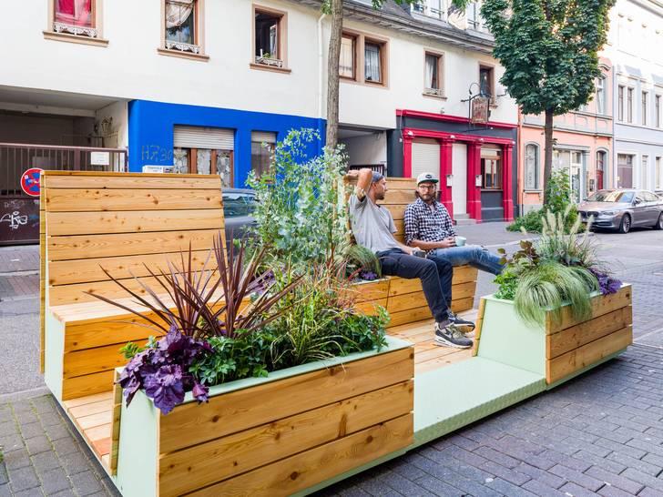 Aufgepasst und platzgemacht - Temporäre, grüne Oasen für den Stadtteil zu gewinnen