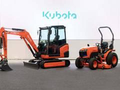 Kubota präsentiert kompakte Traktoren & Baumaschinen mit Elektroantrieb
