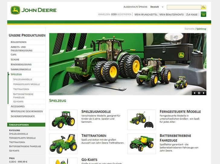 Neuer Online Shop Für John Deere Fans In Deutschland