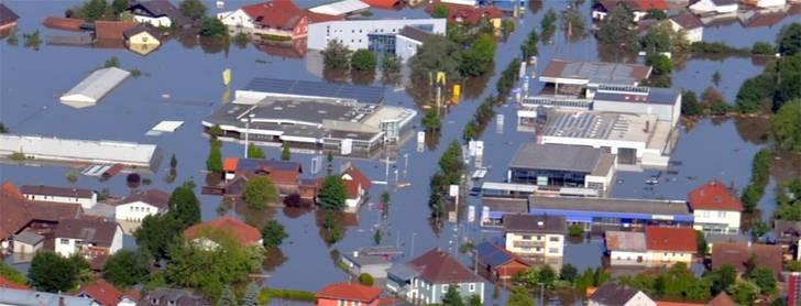 Überschwemmte Gebiete