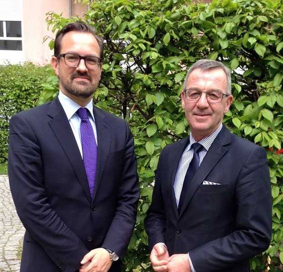 Bertram Fleischer und Jürgen Mertz