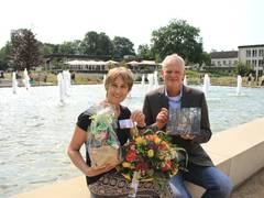 Landesgartenschau Bad Lippspringe: Heike Knuth aus Hamm ist die 400.000ste Besucherin