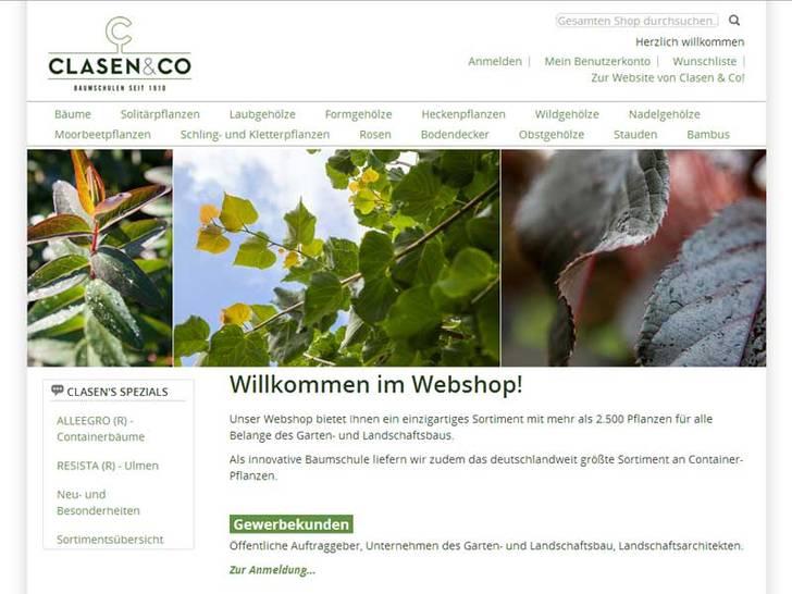 Webshop von Clasen & Co