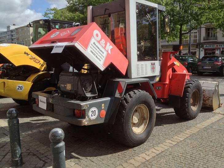 Baumaschinen mit Dieselmotoren
