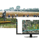 """Maschinenvorführung """"Technik zur Gewässerunterhaltung"""" Hausstette 2021"""