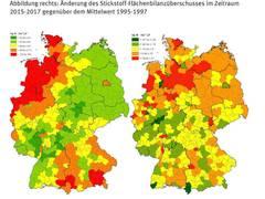 Stickstoffüberschuss der Landwirtschaft seit 20 Jahren zu hoch