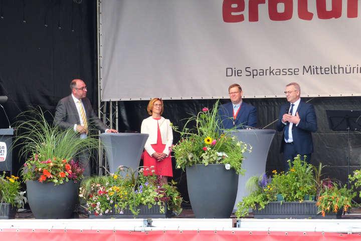 Sommerfest auf der BUGA – Bundespräsident Steinmeier zu Besuch