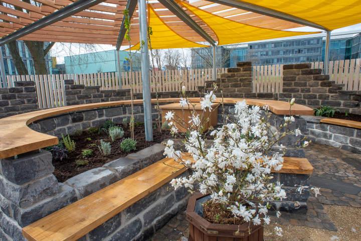 Ein Garten wie ein geschützter Raum