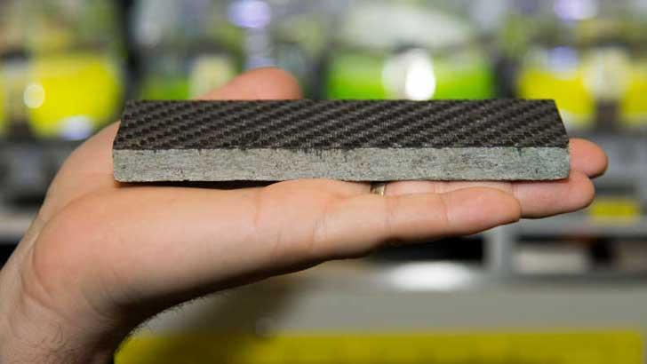 Kohlefaserverstärkte Steinplatte