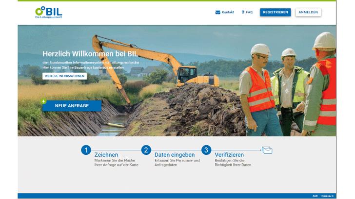 Onlineportal für Bauauskunft
