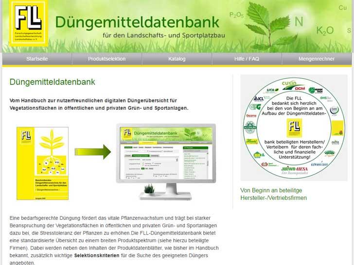 FLL-Düngemitteldatenbank - Neue Mobilversion für Smartphone-Anzeige optimiert