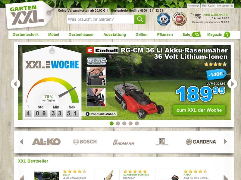 Testsieger GartenXXL ist in Österreich gestartet on