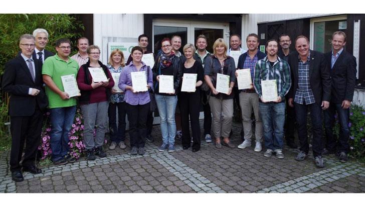 Teilnehmer mit Zertifikaten