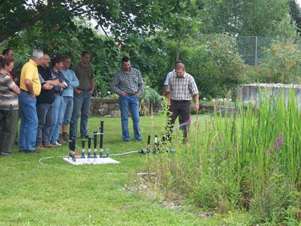 automatischen Bewässerungsanlage