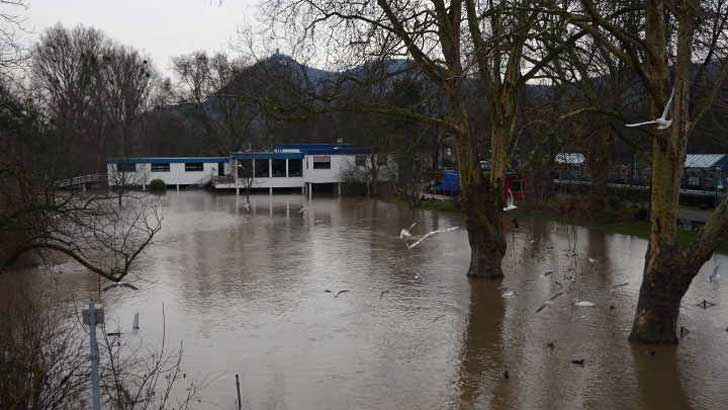 Hochwassersituation in Bad Honnef