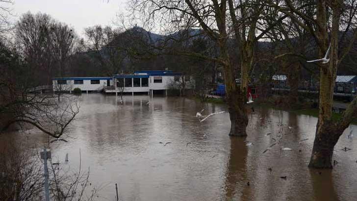 Hochwassersituation in Bad Honnef
