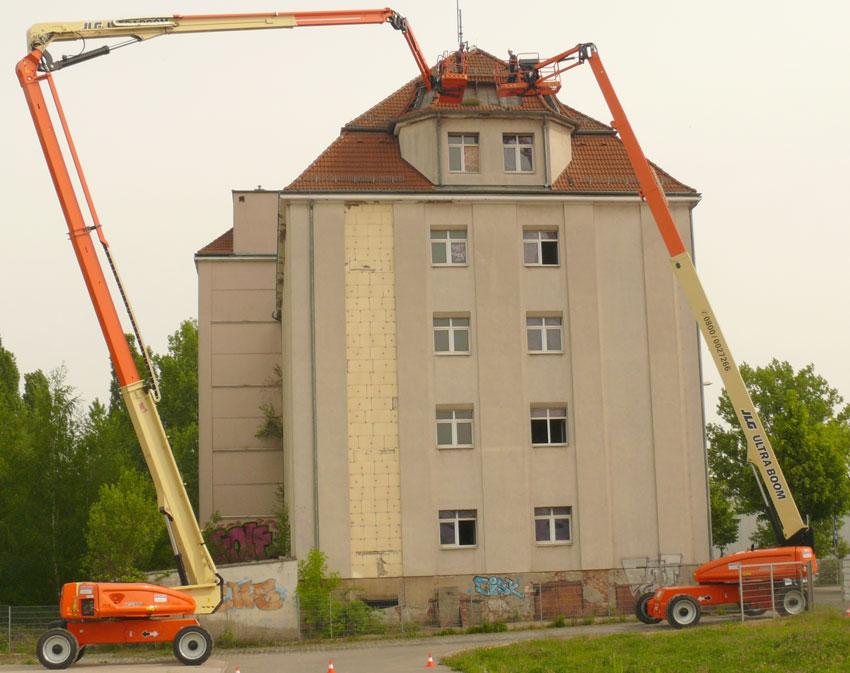 Galabau Leipzig das theisen bühnencenter leipzig hat zwei neue jlg ultrabooms im mietpark