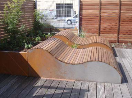 vorgefertigte terrassen und zaunelemente garten und landschaftsmobiliar. Black Bedroom Furniture Sets. Home Design Ideas
