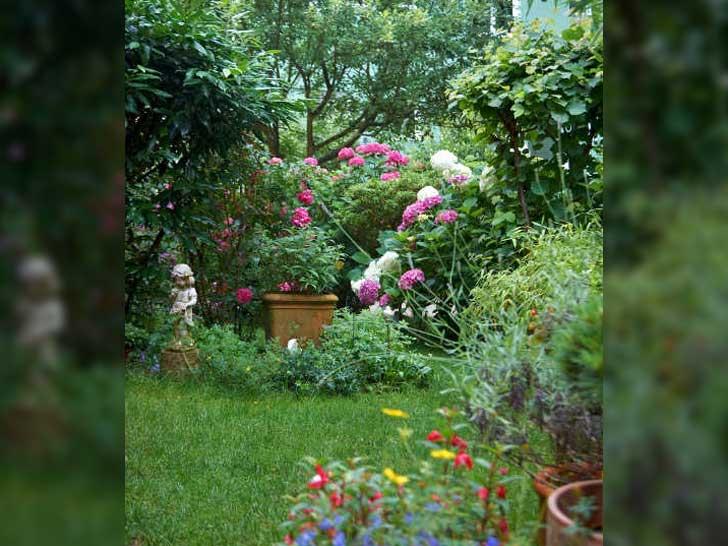 Grundstück mit Bepflanzung