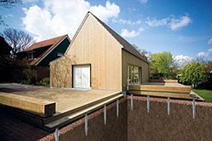krinner stellt bauten auf hundertprozentig umweltfreundliche schraubfundamente. Black Bedroom Furniture Sets. Home Design Ideas