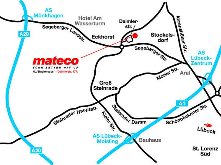 mateco Arbeitsbühnenvermietung – jetzt auch in Lübeck