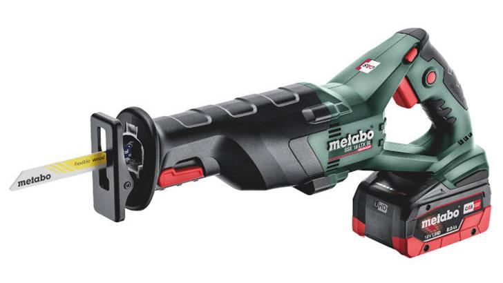 Schnittige Kraftpakete: Die neuen bürstenlosen 18-Volt-Akku-Säbelsägen von Metabo