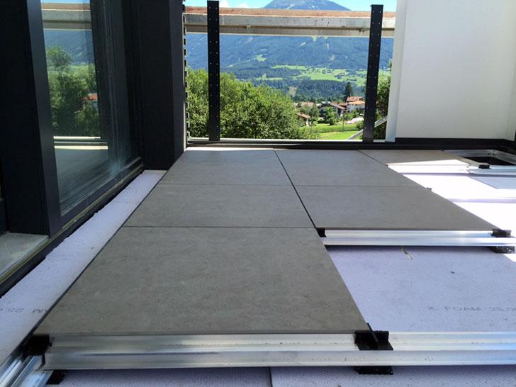 Verlegesystem Betonplatten
