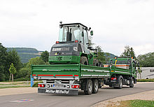 Baumaschinen-Transport