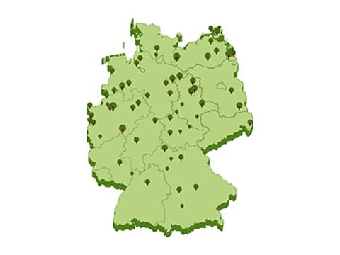 62 Gebiete in ganz Deutschland