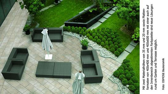 neues keramik system f r terrasse und garten. Black Bedroom Furniture Sets. Home Design Ideas
