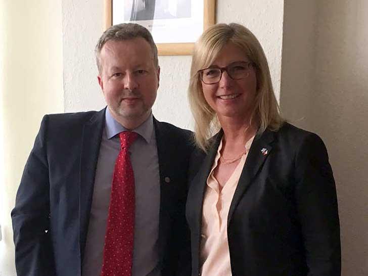 Ulrike Scharf und Richard Brabec