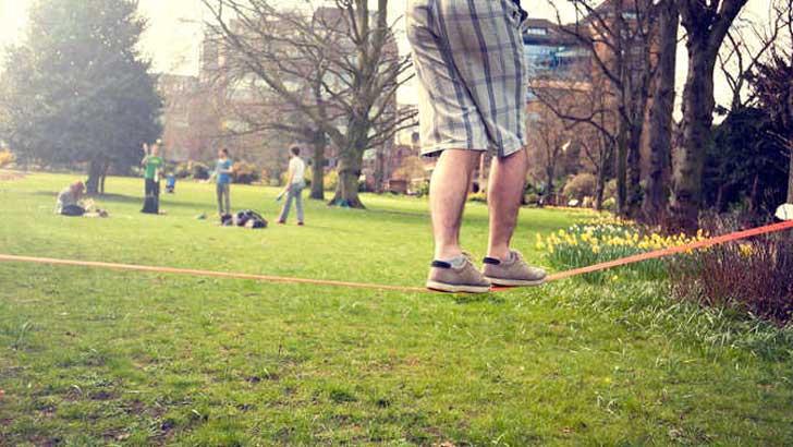 Spiele im Park