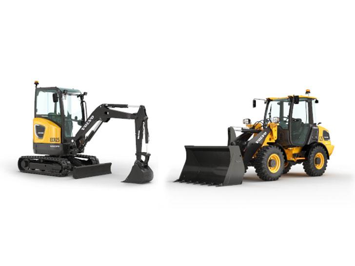 Kompaktbagger und Radlader