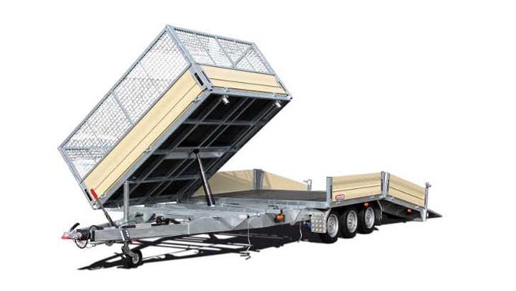 Tridem-Maschinentransporter