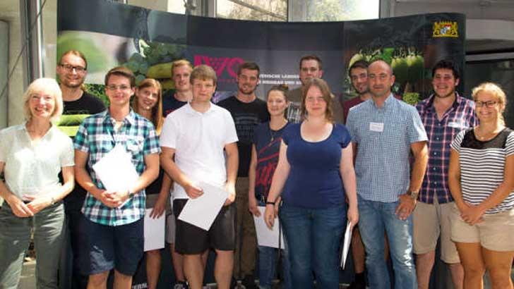Absolventen der Meisterprüfung Gartenbau