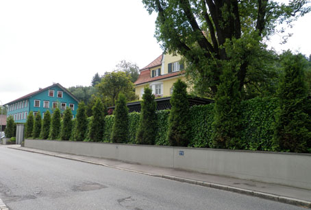 Grune Larmschutzwand Macht Familiengarten Zur Ruhe Oase