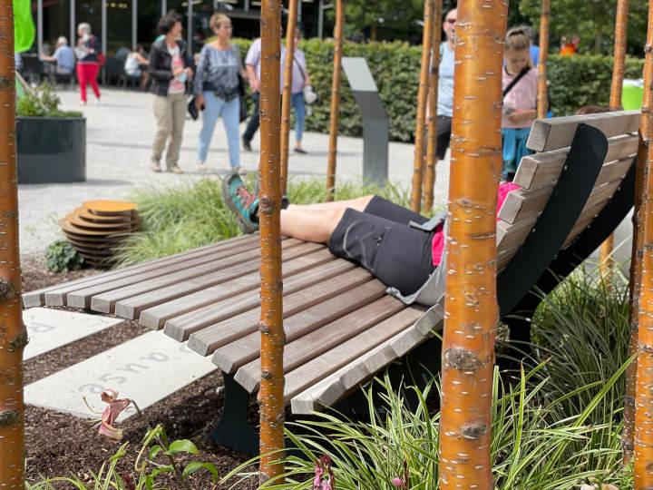 Pflanz Dich hier her: Sitzgelegenheiten in den FGL-Themengärten auf der Bundesgartenschau 2021