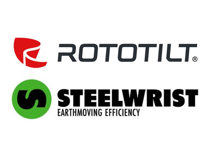 Rototilt und Steelwrist Logo