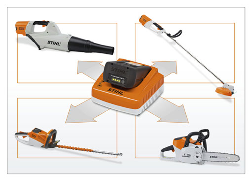 stihl erweitert akku sortiment akku technologie im baukastensystem. Black Bedroom Furniture Sets. Home Design Ideas