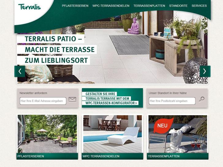Webseite von Terralis