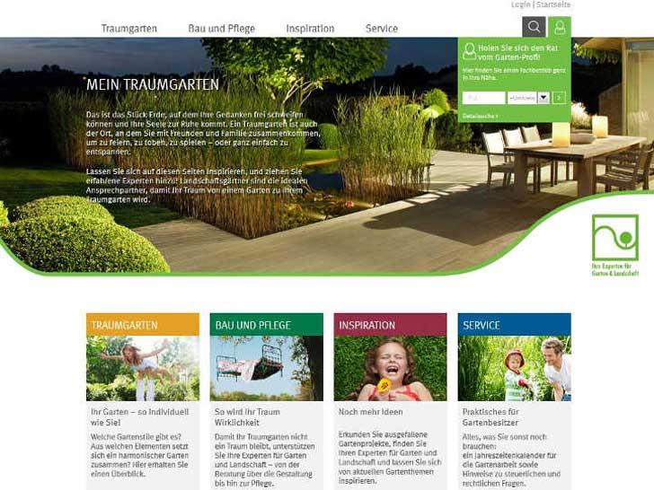 Traumgarten-Webseite