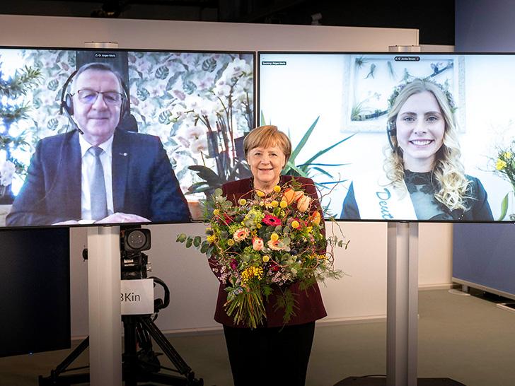 ZVG im Bundeskanzleramt - Anliegen der Branche beim floralen Valentinsgruß angebracht